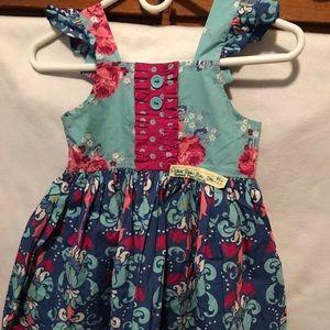 Eleanor Rose Blue Floral pattern dress..